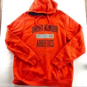 Under armour athletics orange hoodie